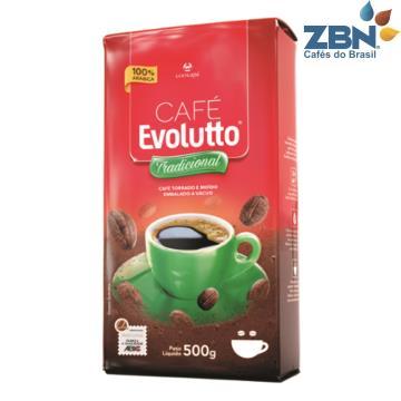 CAFÉ TORRADO E MOÍDO VACUO 100% ARÁBICA EVOLUTTO TRADICIONAL 500 G