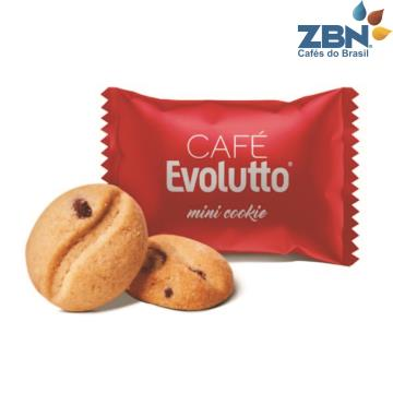 MINI COOKIE EVOLUTTO SABOR BAUNILHA C/GOTAS CHOCOLATE 700G - APROX.200UN