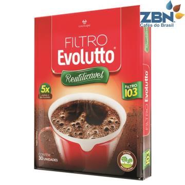 FILTRO DE CAFÉ REUTILIZÁVEL EVOLUTTO 103 CX C/30UN