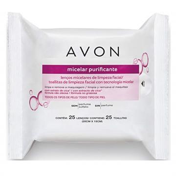 Avon Lenços Micelares de Limpeza Facial 25 lenços