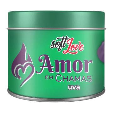Soft Love Vela Beijável Amor em Chamas Uva 50g