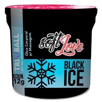 Black Ice Triball Soft Ball Funcional 3unid