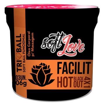 Facilit Hot Blackout 4x1 Triball Soft Ball Funcional 3un