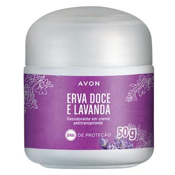 Desodorante Creme Avon Erva Doce e Lavanda 50g