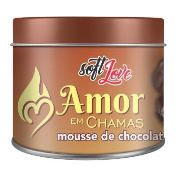 Soft Love Vela Beijável Amor em Chamas Mousse de Chocolate 50g