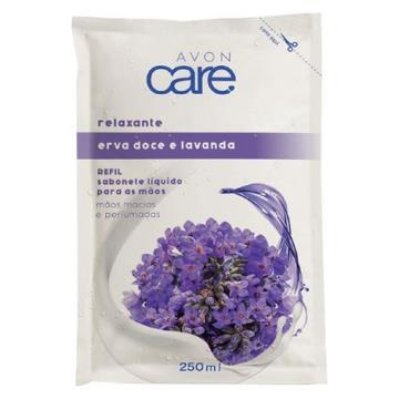 Refil Sabonete Líquido para as Mãos Erva Doce e Lavanda Avon Care 250ml