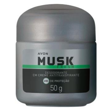 Musk Fresh Desodorante Creme Antitranspirante 50g