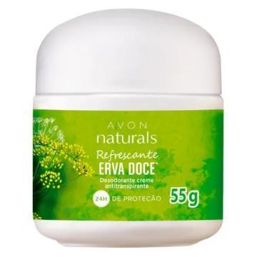 Desodorante Creme Avon Naturals Erva Doce 55g
