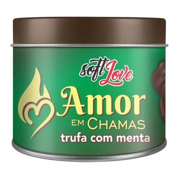 Soft Love Vela Beijável Amor em Chamas Trufa com Menta 50g