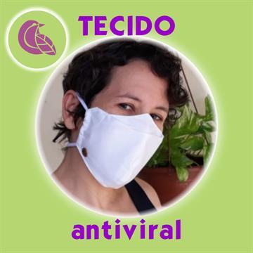 Máscara com tecido Antiviral Delfim Protect e clipe nasal