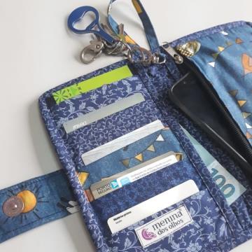 Carteira para cartões e celular: Lhama