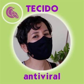 Máscara com tecido Antiviral e Clipe Nasal Preta