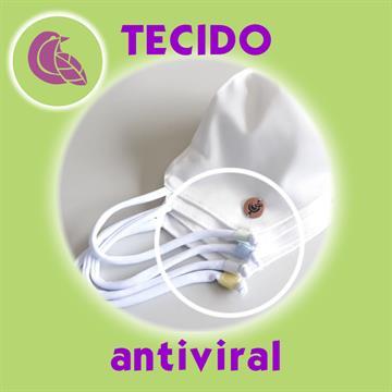 Kit Família Máscara com Tecifdo Antiviral Branca