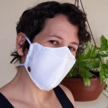 Máscara 3D Tecido Antiviral Delfim Protect