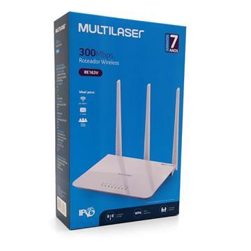 Roteador Três Antenas Branco Ipv6 300 Mbps - Multilaser - RE163V RE163V