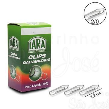CLIPS 2/0 C/ 100 PCS GALVANIZADO - IARA