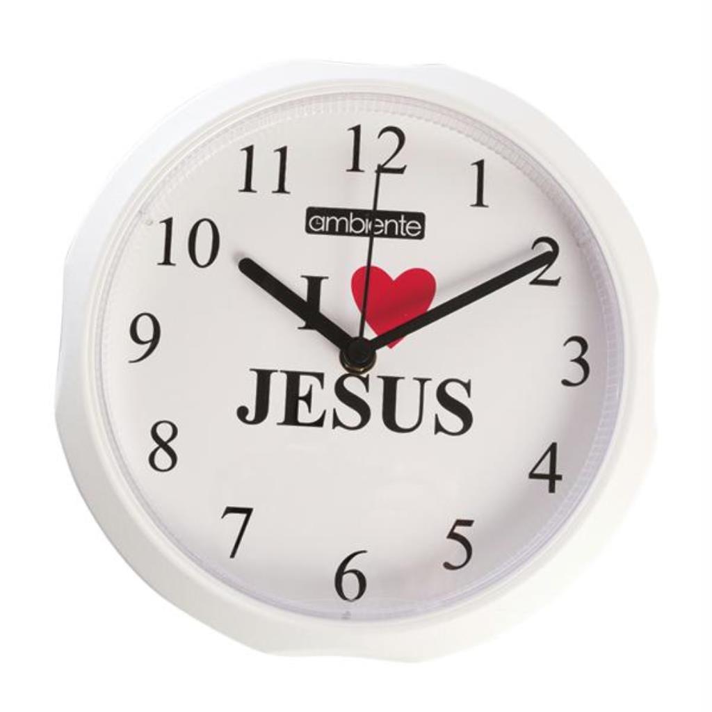 RELOGIO DE PAREDE REDONDO EU AMO JESUS