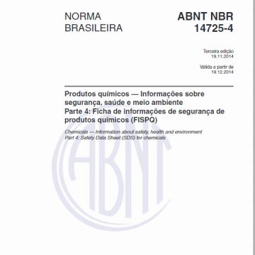 FISPQ - NBR 14.725/4