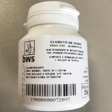 CLORETO DE SODIO U.S.P. (NaCl) 25G