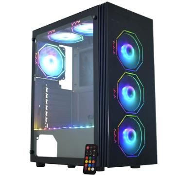 Gabinete Gamer Asgard Polygon Preto LED RGB CG-02Z5