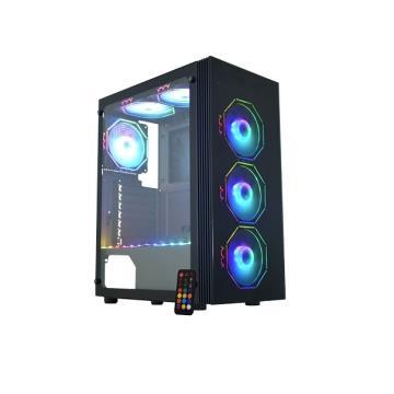 Gabinete Gamer Asgard Polygon Preto LED RGB CG-02Z5