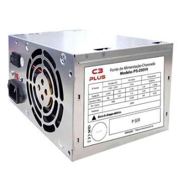Fonte ATX C3Tech 200W Reais Sata PS-200V4