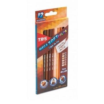 Lápis de cor tons de pele 12UN (Mega soft color Tris)