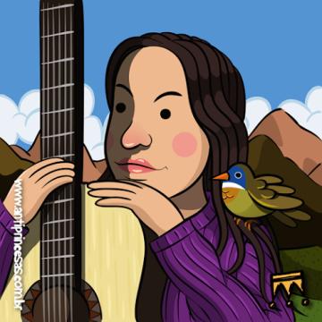 Imã de Geladeira: Violeta Parra