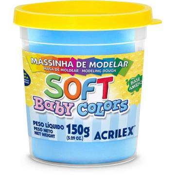 Massa de modelar Azul - Acrilex Soft - Baby Colors - 150g