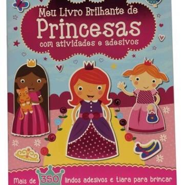 Meu livro de adesivo brilhante de Princesas com atividades e adesivos