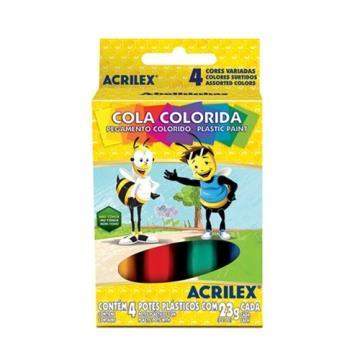 Cola colorida 4 un (Acrilex)