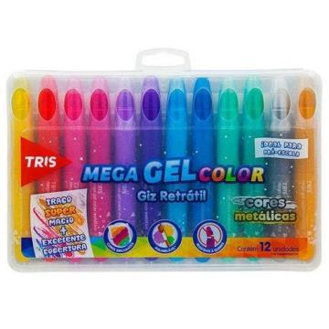 Mega Gel color Giz retrátil 12 unidades
