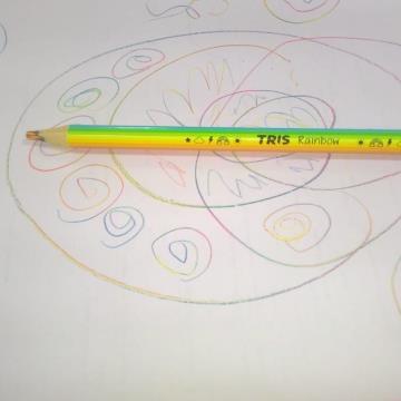 Lápis colorido Tris Arco-íris Rainbow Jumbo