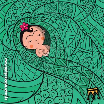 Imã de Geladeira: Frida Kahlo Bebê