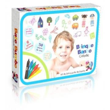 Brinque Banho 2 Em 1 Alfabeto E Giz Pinta E Apaga