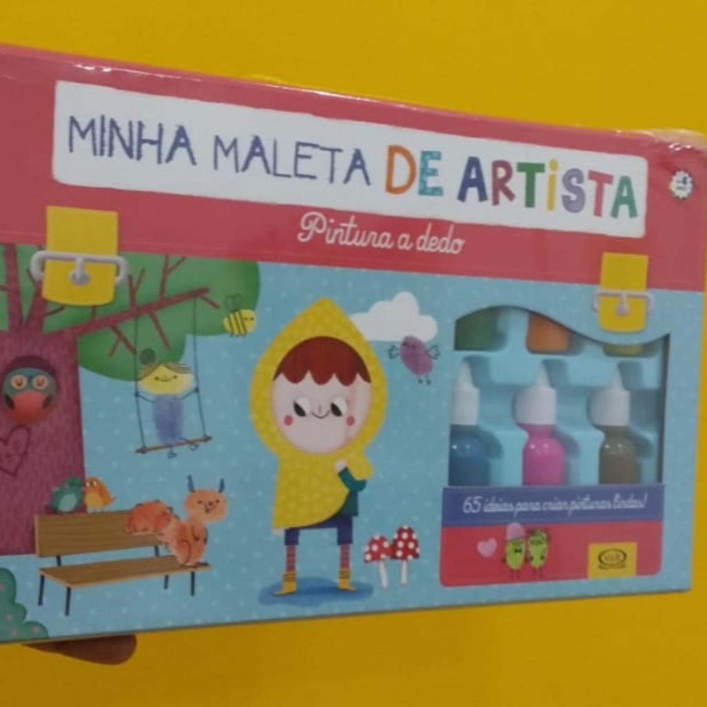 Minha Maleta de Artista - Pintura a dedo