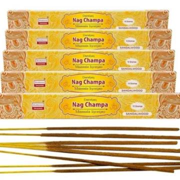 INCENSO NAG CHAMPA SANDALWOOD INDIA 12 VARETAS 8902264044184
