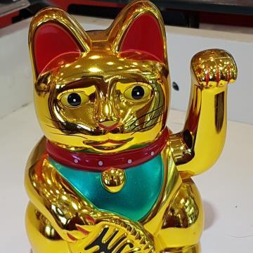 Gato da sorte (amuleto) a pilha 15 cm
