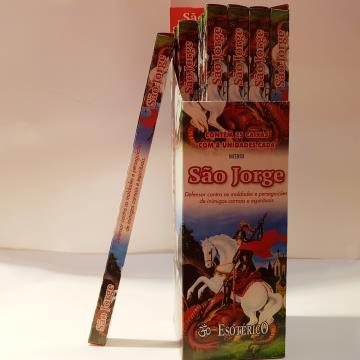 INCENSO SAO JORGE C8 VARETAS EXOTERICO 7898233127389
