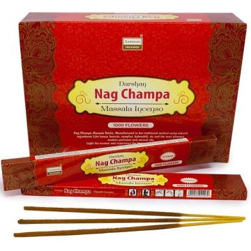 INCENSO NAG CHAMPA 1000 FLOWERS MASSALA INDIA 8902264044269