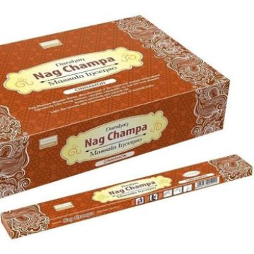 INCENSO NAG CHAMPA CINNAMON (CANELA) DARSHAN INDIA 8902264044221