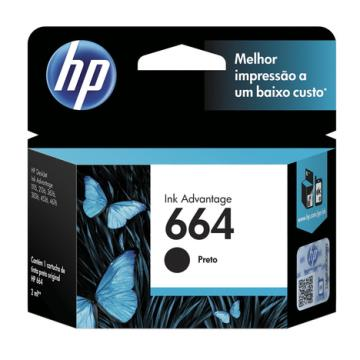 Cartucho HP 664 Preto F6V28AB 2,0 ml