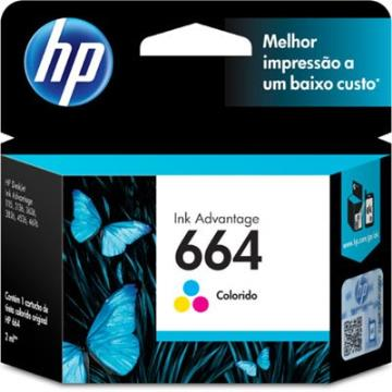 Cartucho HP 664 Color F6V28AB 2,0 ml