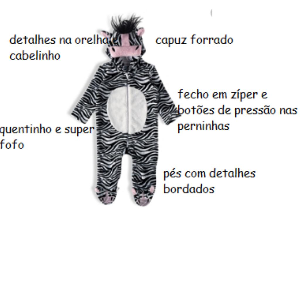 MACACÃO TIP TOP ZEBRINHA