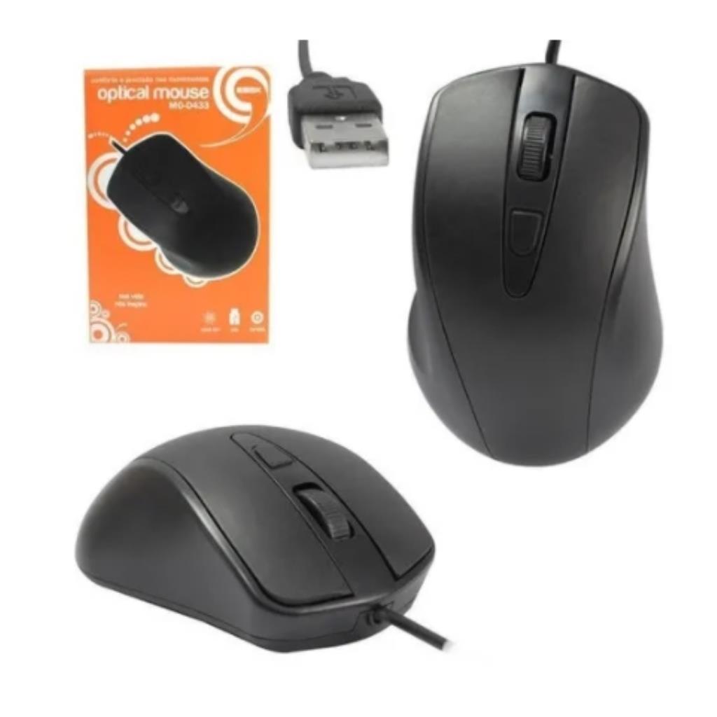 Mouse USB K-MEX MO-D433 - 1000dpi