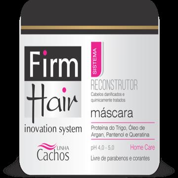 MÁSCARA RECONSTRUTORA FIRM HAIR 500 g Linha cachos
