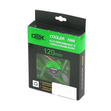 COOLER 120MM COM LED VERDE DX-12L (DX-12L VERDE)