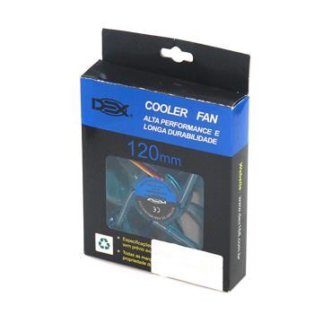 COOLER 120MM COM LED AZUL DX-12L (DX-12L AZUL)