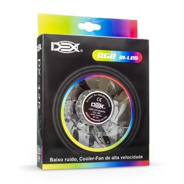 COOLER 120MM COM LED RGB DX-12R DEX