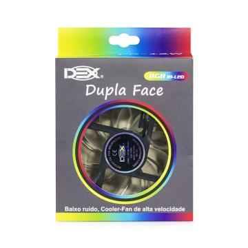Cooler dupla face 120MM Acende Colorido RGB - DX-12W